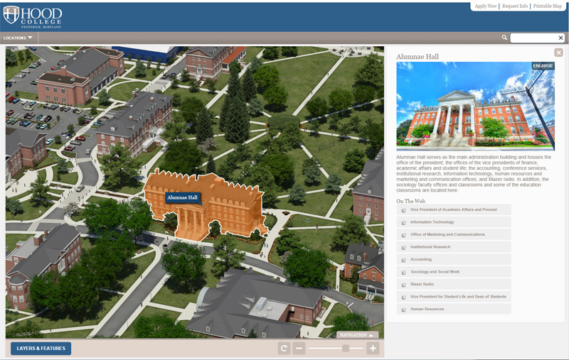 hood college campus map Hood College Html5 Interactive Campus Map Project hood college campus map