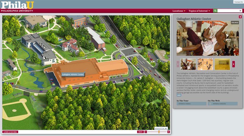 Philadelphia University HTML5 Interactive Campus Map Project