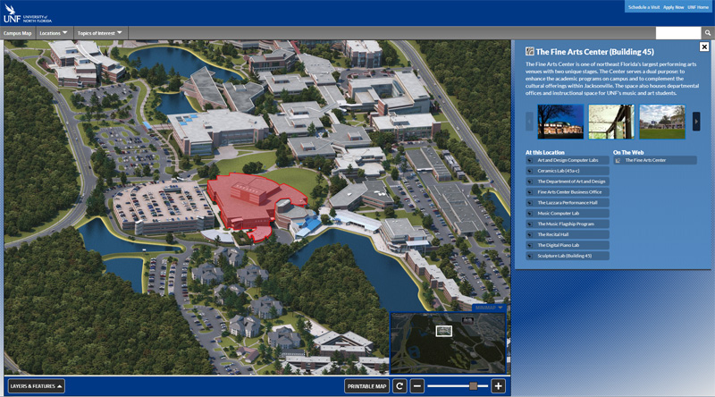 University of North Florida HTML5 Interactive Campus Map Project