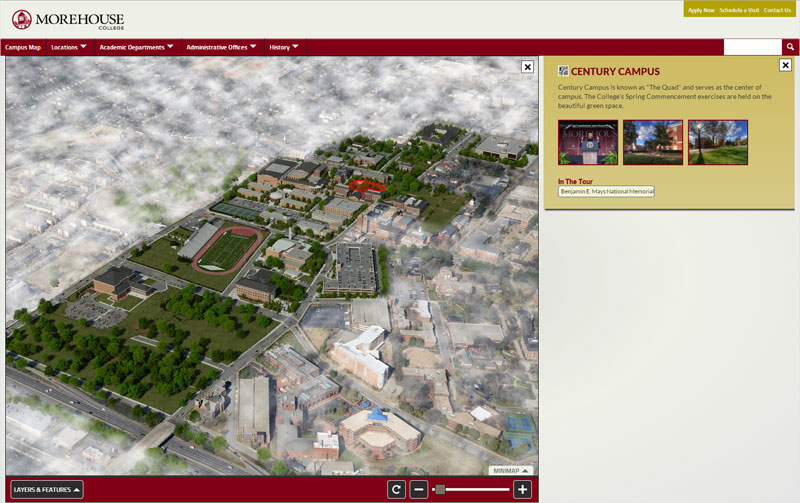 Morehouse college html5 campus interactive 3d map project sciox Images