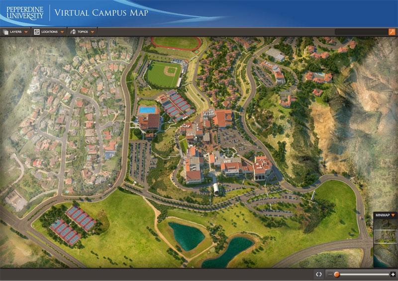 Pepperdine Malibu Campus Map.Pepperdine University Interactive Campus Map Project