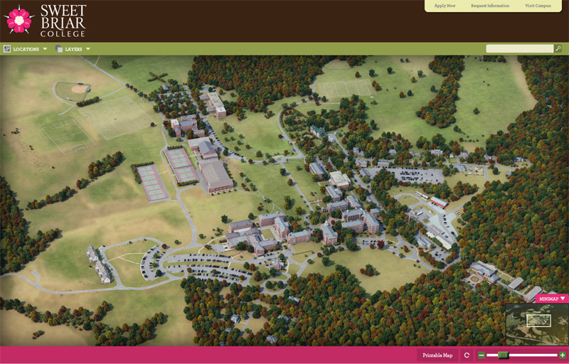 sweet briar campus map Sweet Briar College Interactive Campus 3d Map Project