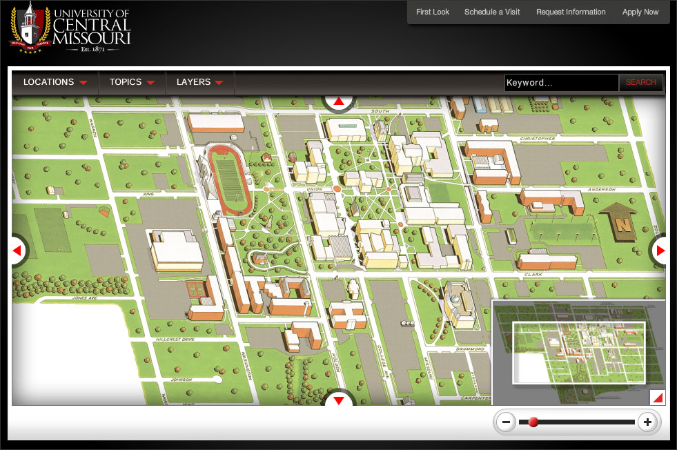 map of ucm campus University Of Central Missouri Interactive Campus 3d Map Project map of ucm campus