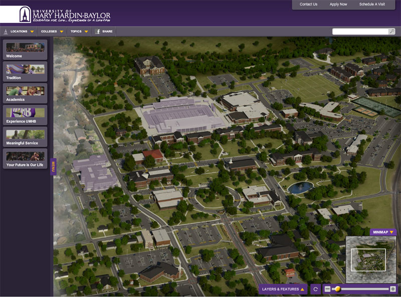 The University of Mary Hardin Baylor Virtual Tour & Interactive 3D