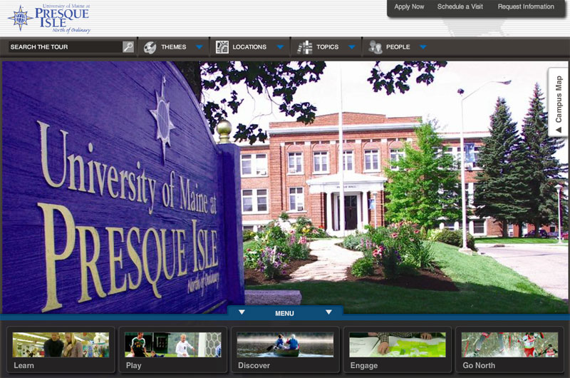Umpi Campus Map.The University Of Maine At Presque Isle Virtual Tour Interactive