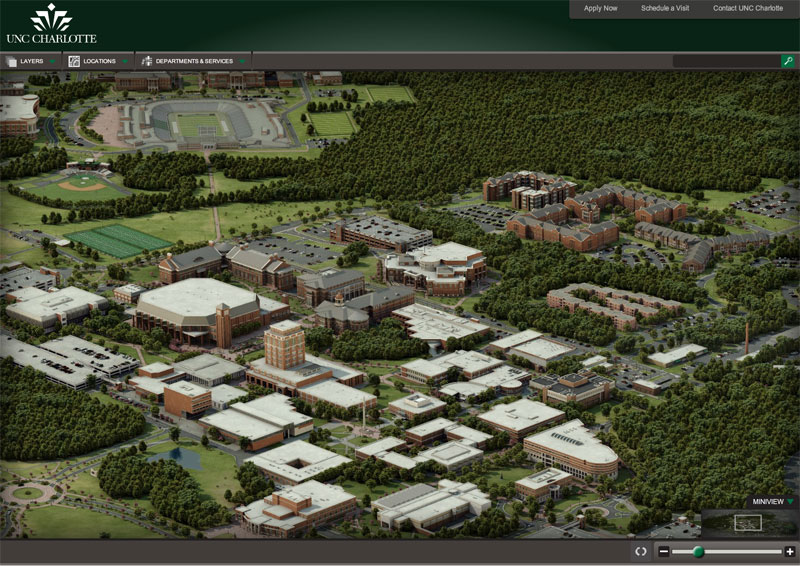 University of North Carolina at Charlotte Interactive Campus Map